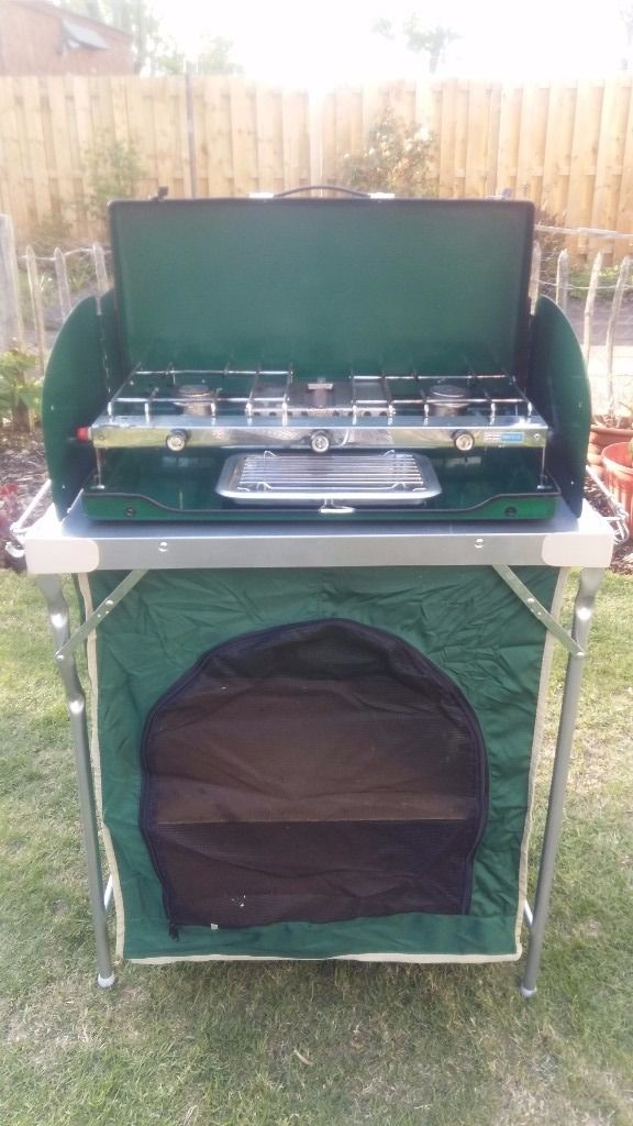 Camping cupboard unit/Stove stand
