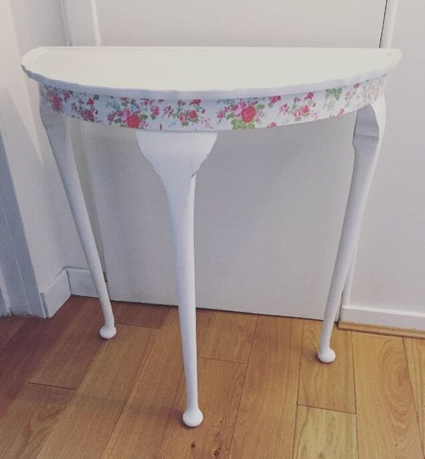 SOLD!!!!!!! Half moon console table Annie Sloan