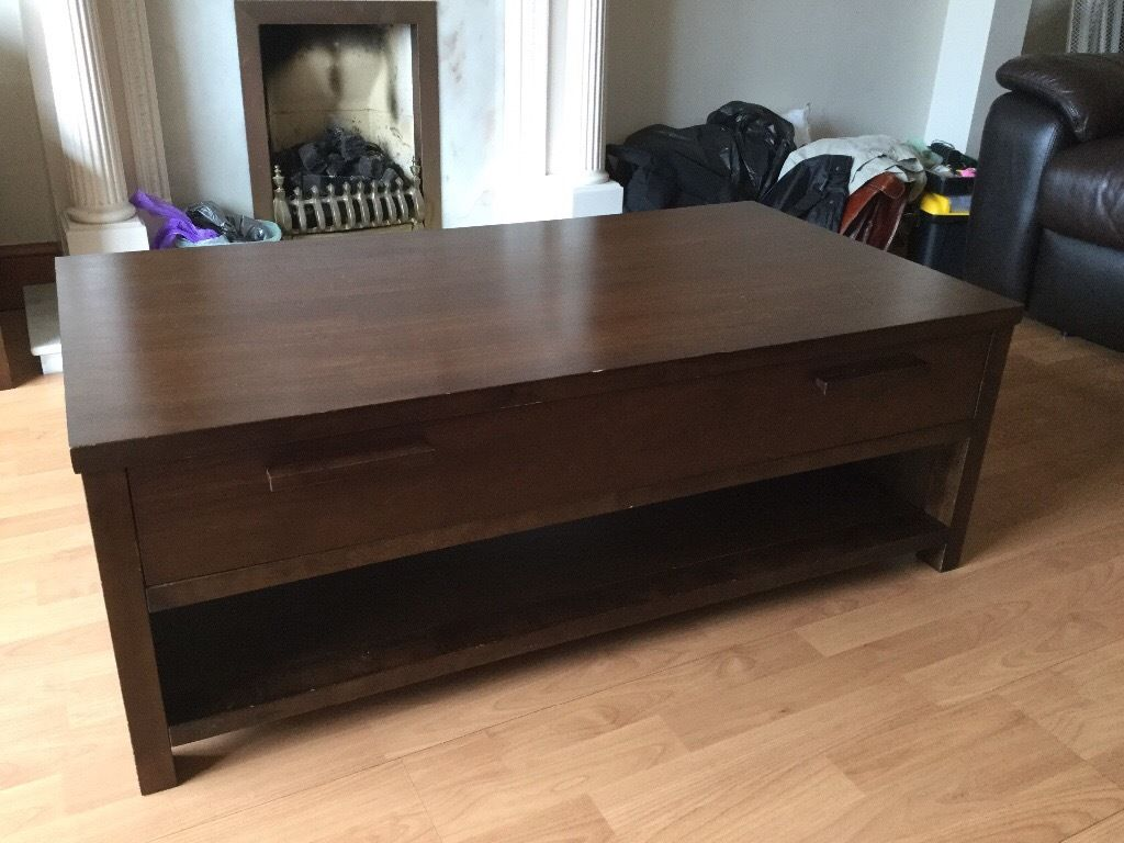 Coffee table, brown
