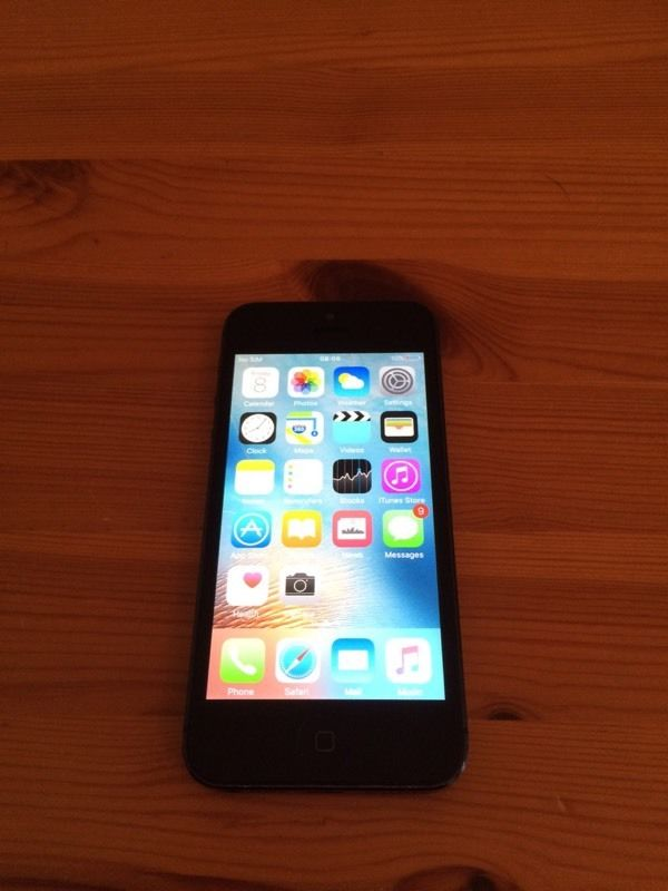 Black/ grey iPhone 5 (unlocked, free delivery, more phones available)