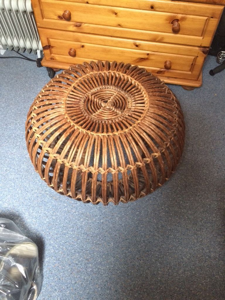 Beautiful wicker table/ foot stool