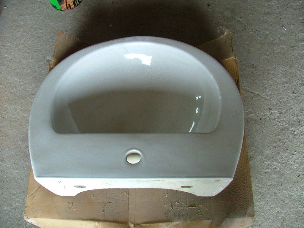 two basins semi ped without taps or wastes
