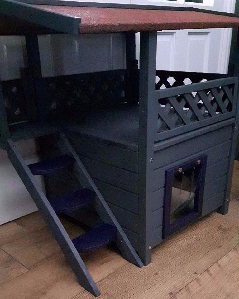 NEW CATS/KITTENS/DOGS PLAYHOUSE/KENNEL/TOILET & blankets,garden,decking,patio,ALL YEAR ROUND USE