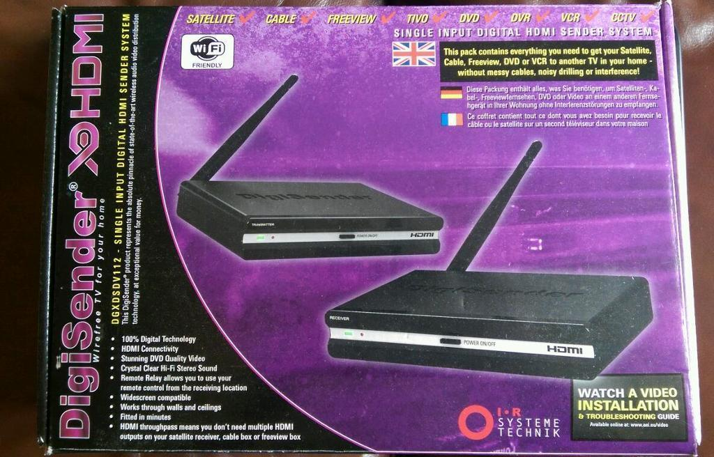 Wireless HD TV sender