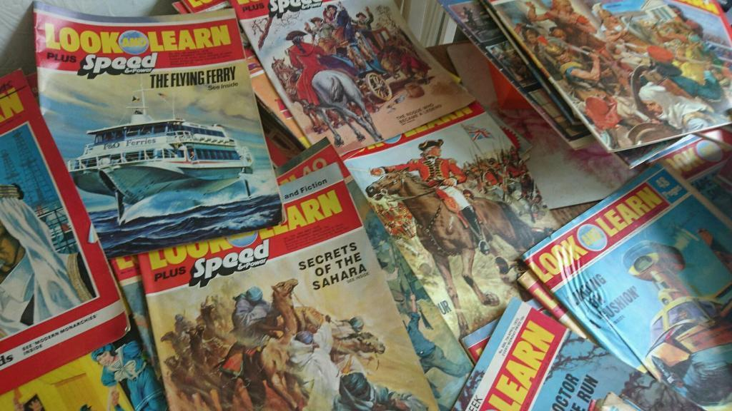 Over 100 look and learn magazines from the 70s