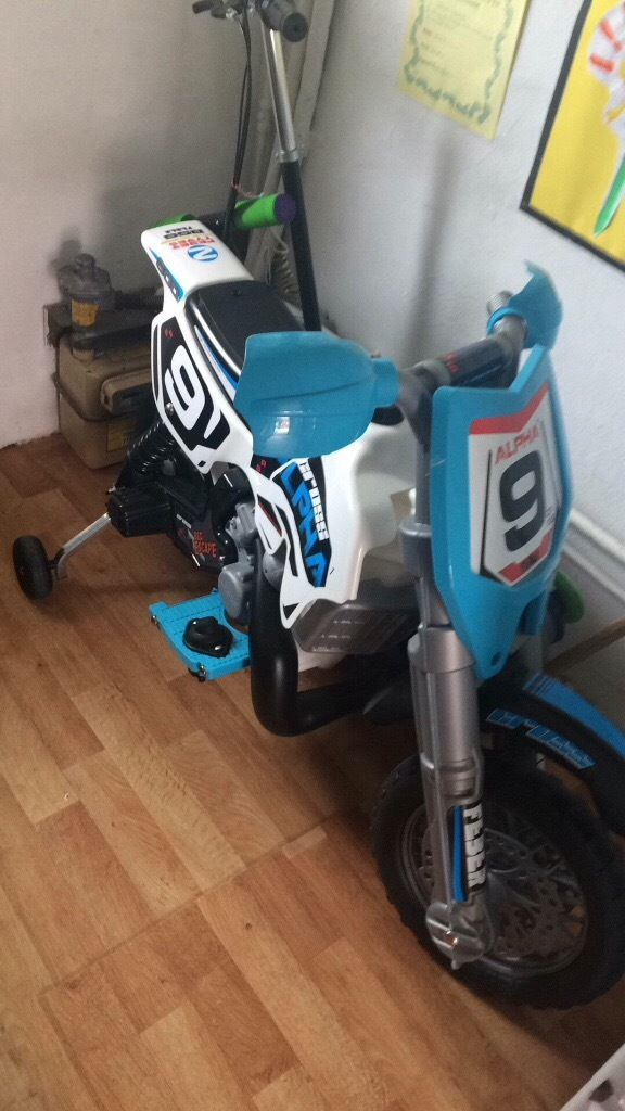 Childs electric bike ride on excellent condition