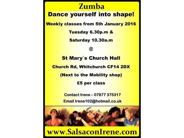 Zumba classes for all levels in whitchurch, cardiff