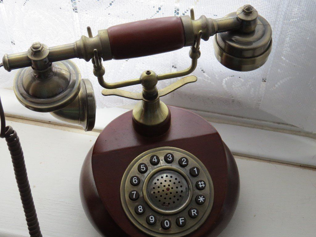 old style telephone.