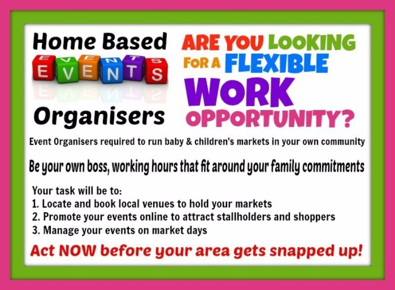 Home Based BABY Event Organisers Required in Cumbria