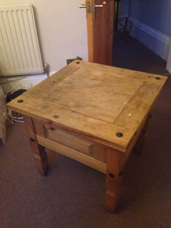 Lovely solid wood side table