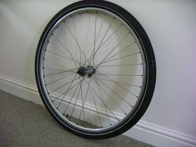Hybrid Wheel 700c Front Wheel Quality Deore Hub Stainless Steel Spokes Eyelet Rim With Tyre