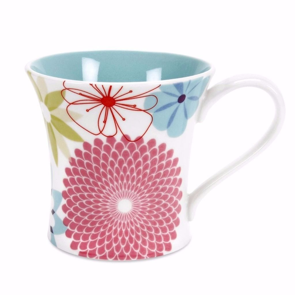 Portmeirion CR48866-X Crazy Daisy Mug Set of 4