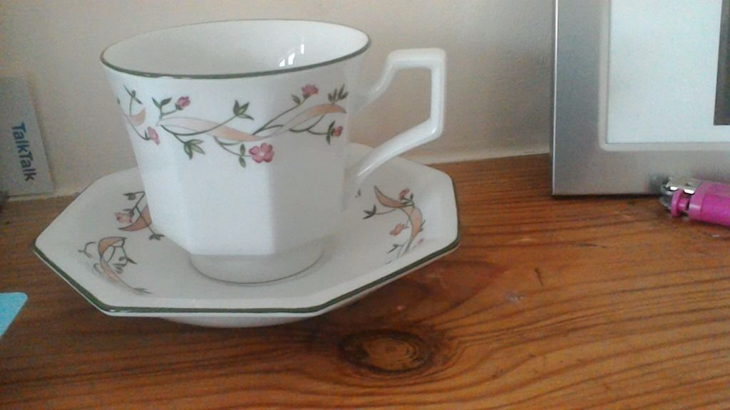 ETERNAL BEAU CUPS AND SAUCERS 16 0FF EACH