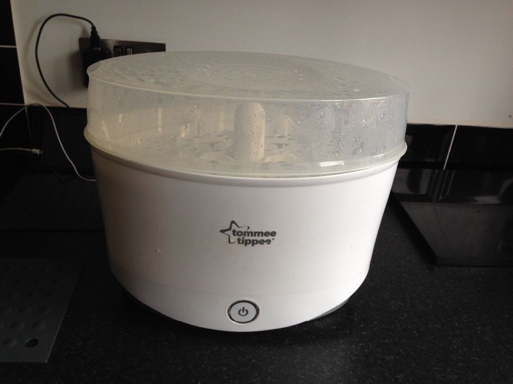 Tommee tippee electric steriliser with microwaveable sterile the white
