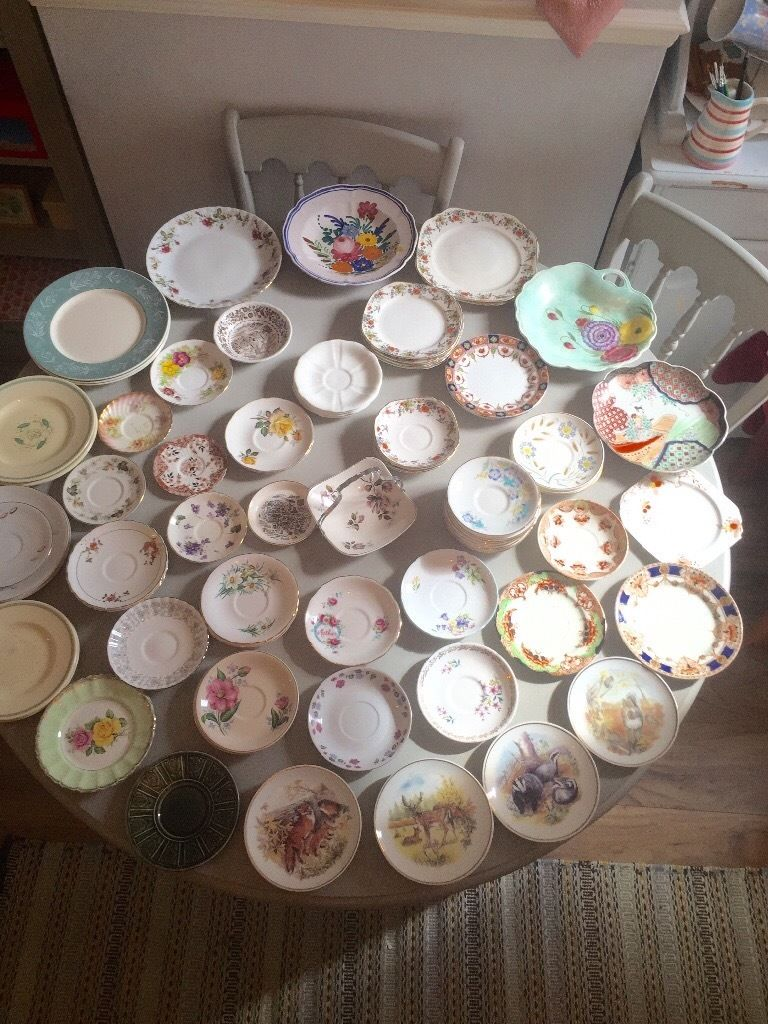 Lots of saucers and plates