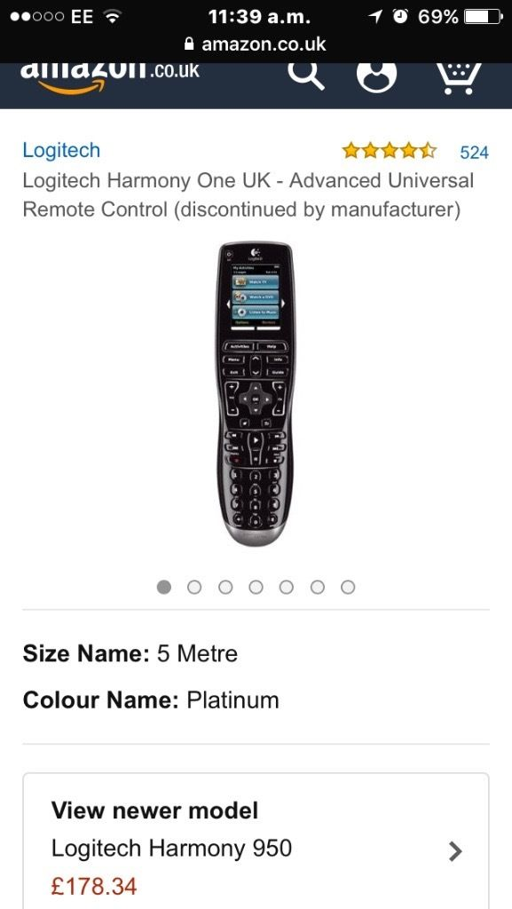 Logitech harmony one for all systems in the home. Capable of universal remote control