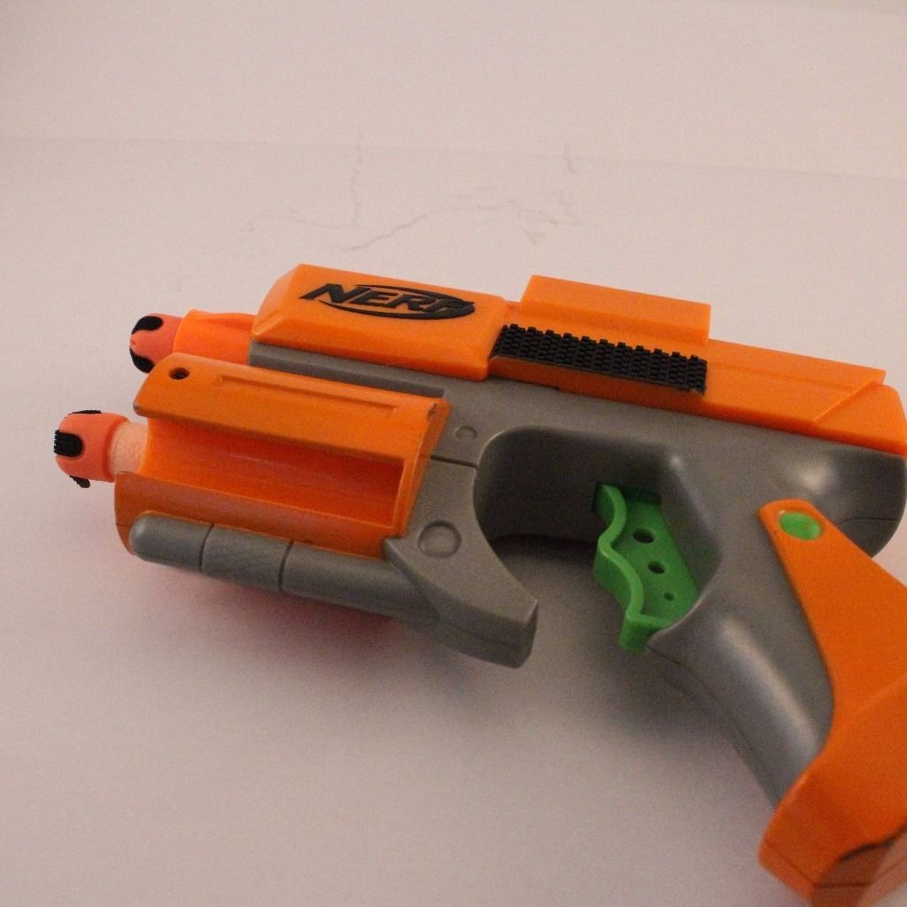 Job Lot 3 X Nerf Hand Gun Strikefire/Crossfire - incl. 6 bullets ammo