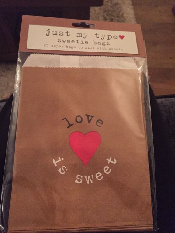 100 brand new 'love is sweet' bags