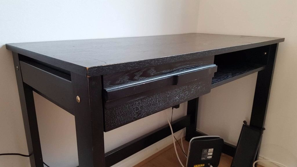 Black Wooden Computer Desk