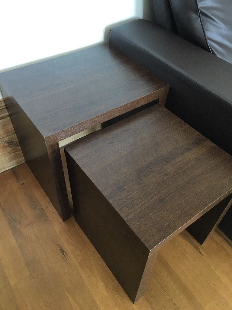 Pair of Dwell Side Tables/Coffee Table