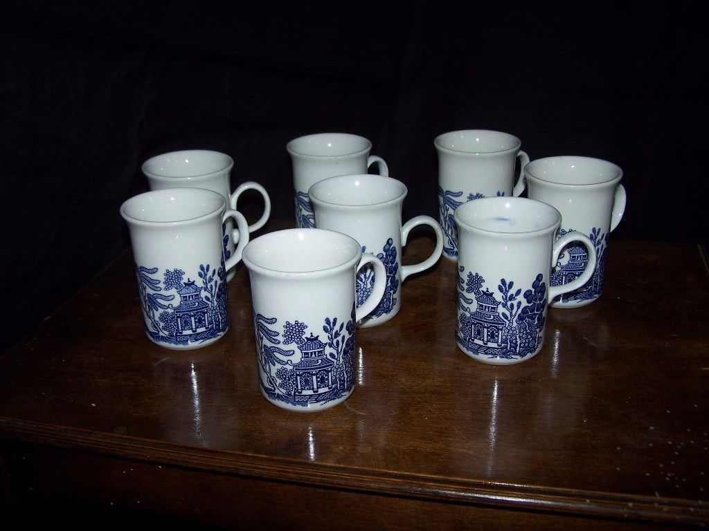 Willow Pattern Coffee Mugs