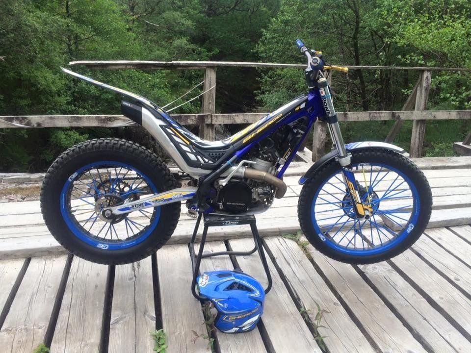 Sherco ST300 2014 with 2015 frame