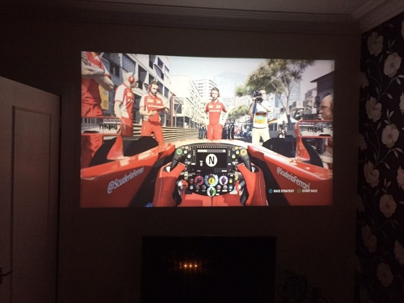 """120"""" HD Projector!!! And Electric Drop down Screen"""