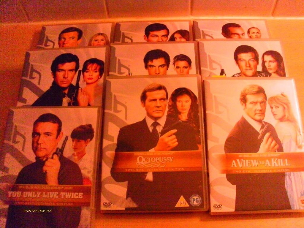 9 X Two disc Special Edition James Bond Movies