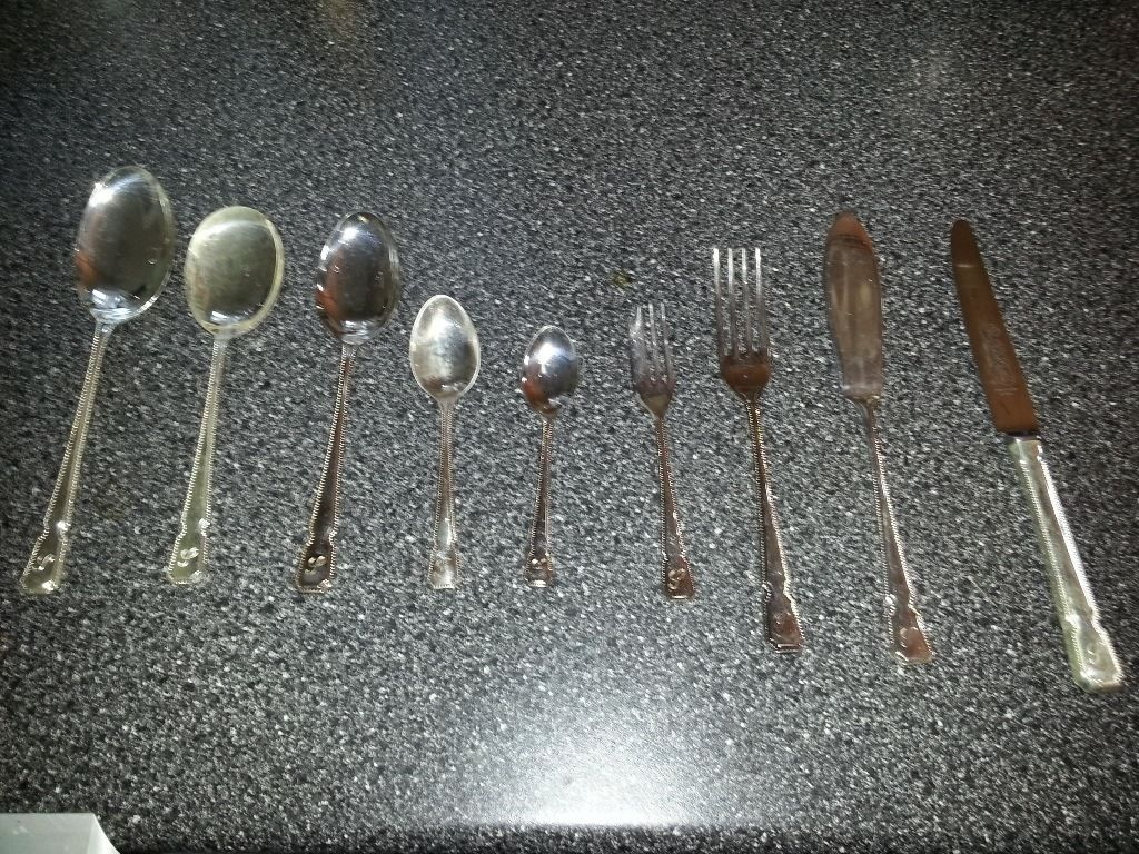 Silver plated cutlery many items all in excellent condition also includes several coasters