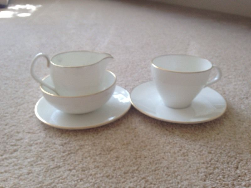 Royal Worcester bone china with gold trim set