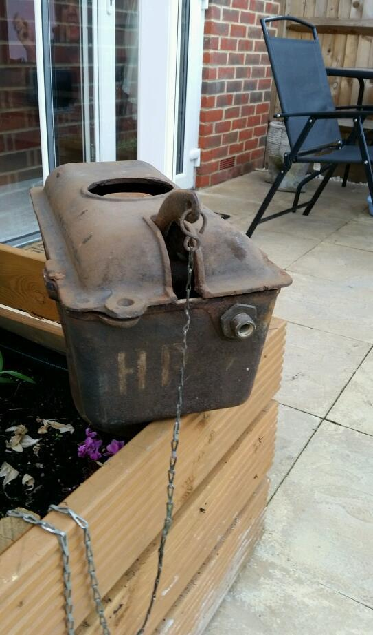 antique water toilet cistern