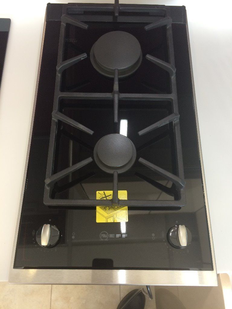 Neff N24K30N0 30cm 2 Burner Gas-on-glass Domino Hob Series 4 N24K30N0