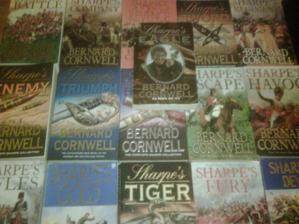 Sharpe paperbacks by bernard cornwell (21 books)