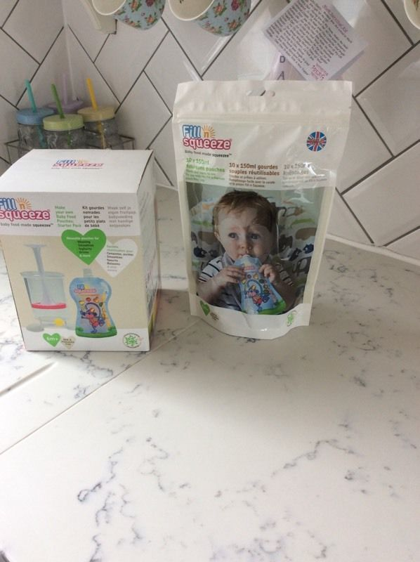 Brand new- Fill n Squeeze starter kit plus 10 additional pouches