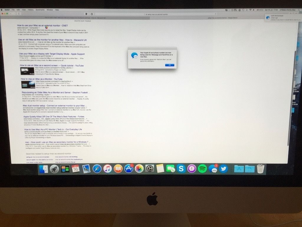 Apple iMac 27 inc mid 2010 upgraded 12GB RAM with keyboard, mouse, trackpad