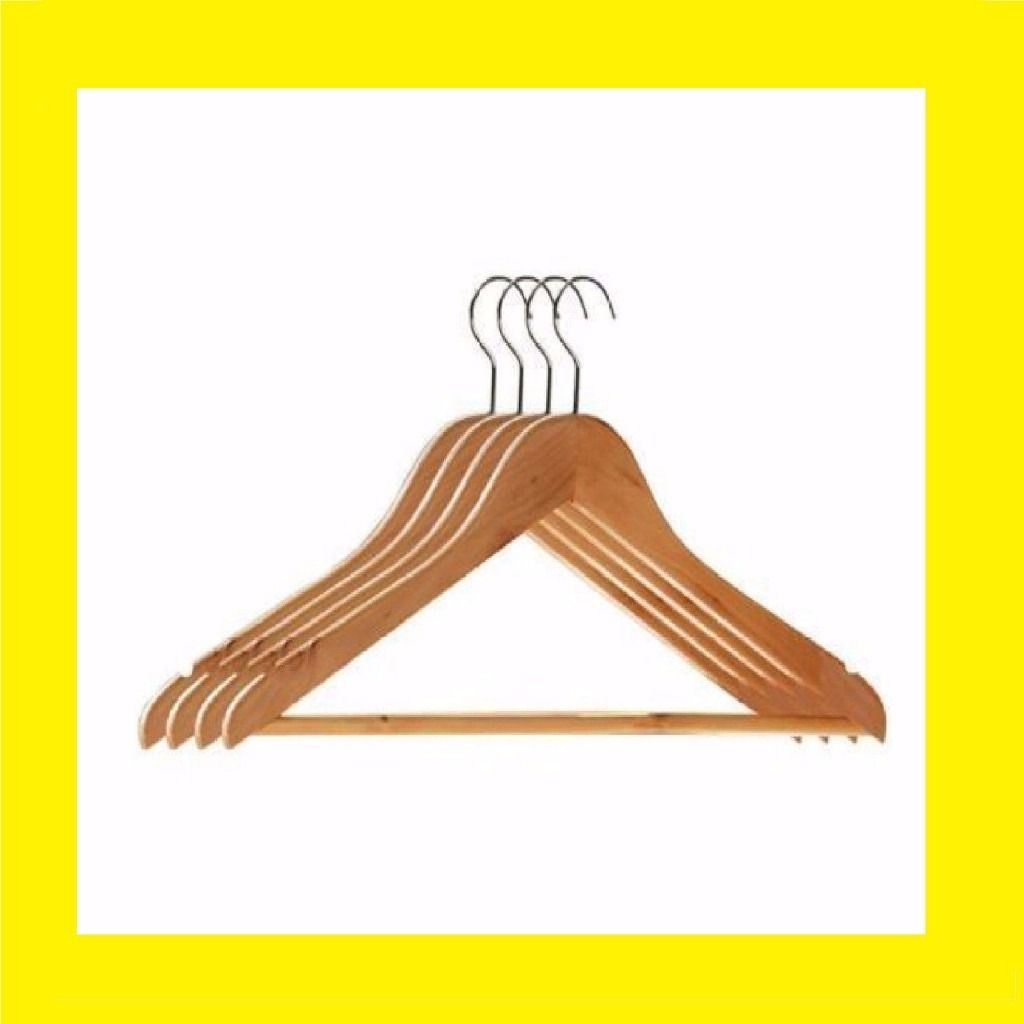 100 Wooden Clothes Hangers