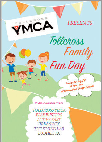 Tollcross YMCA Fun Day July 31st 2016 12 Noon till 4pm