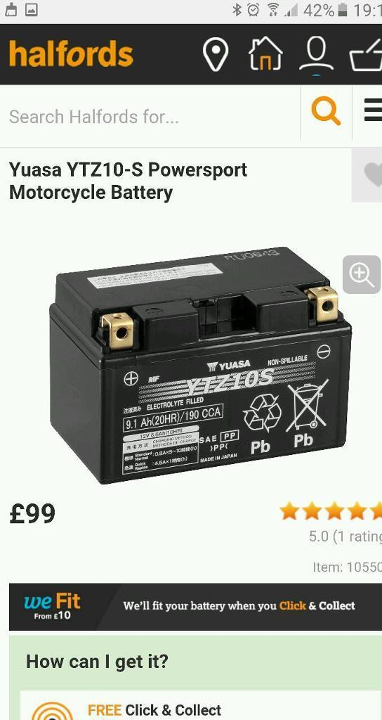 Yuasa YTZ10-S Powersport Motorcycle Battery brand new unopened