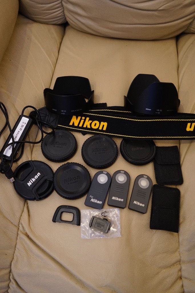 a small selection of NIKON accessories
