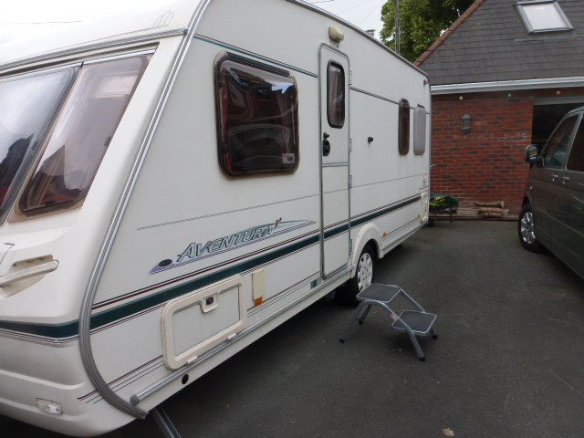 Abbey Aventura 318 Touring Caravan. 4 Berth. Shower room. Many costly extras included.