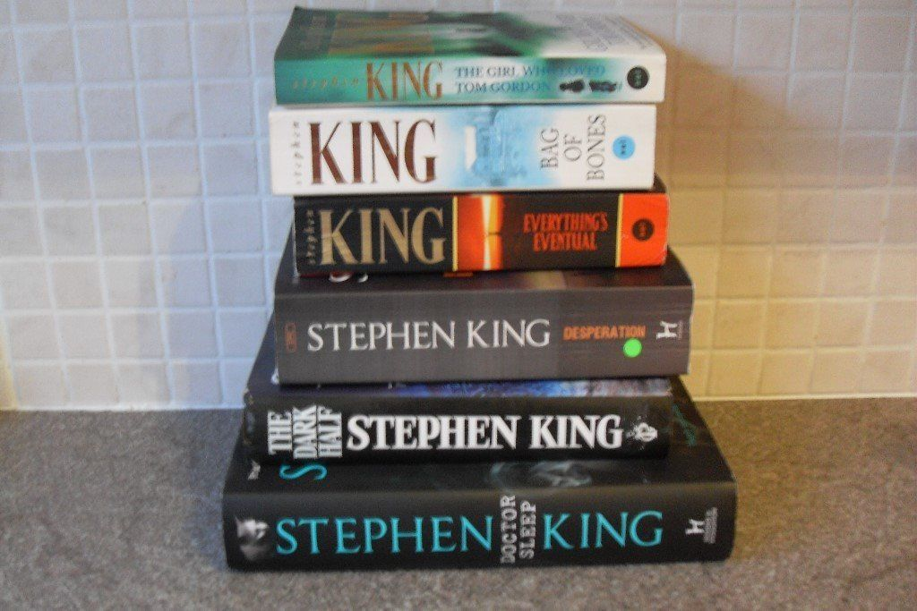 Stephen King Books x 6. 2 hardback and 4 paperback
