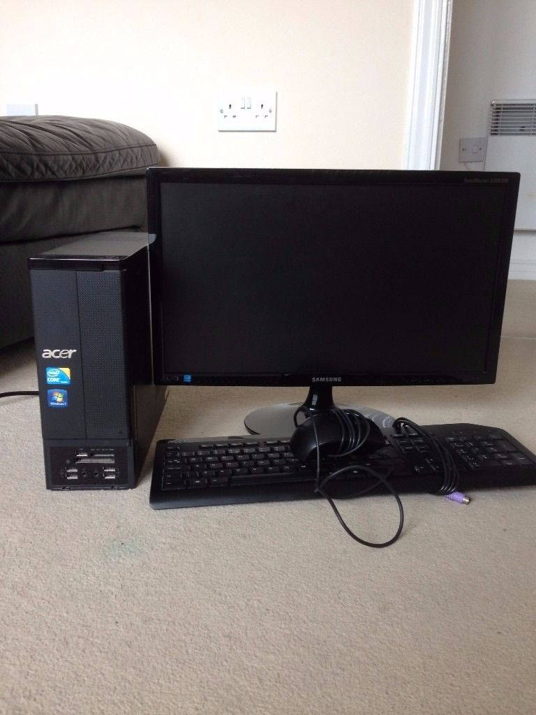 "Acer Aspire AX3950 with Samsung 20""LED monitor keyboard mouse"
