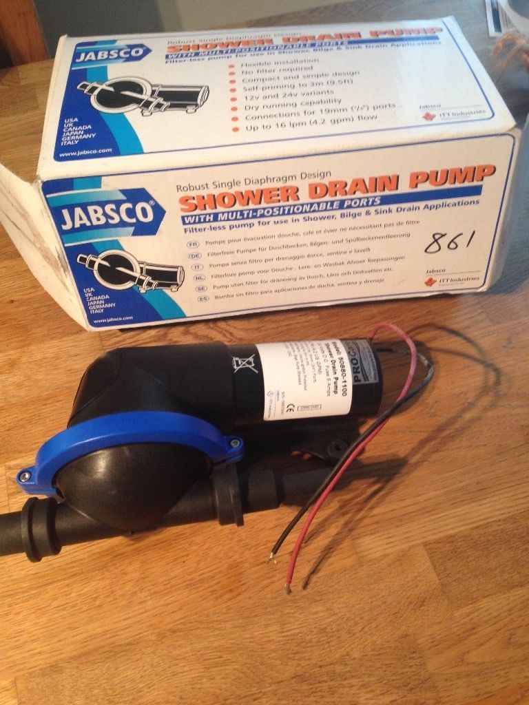 Jabsco shower drain pump