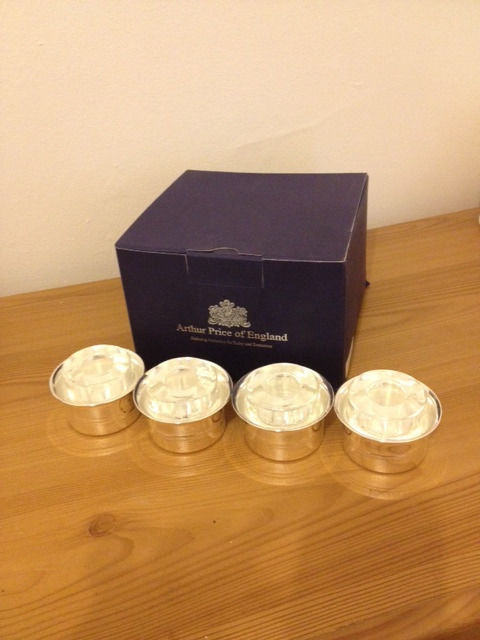 4 Arthur Price Candle Holders Silver Plated