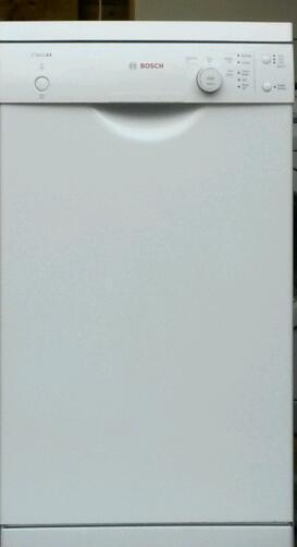 Bosch classixx slimline dishwasher in white excellent condition warranty included