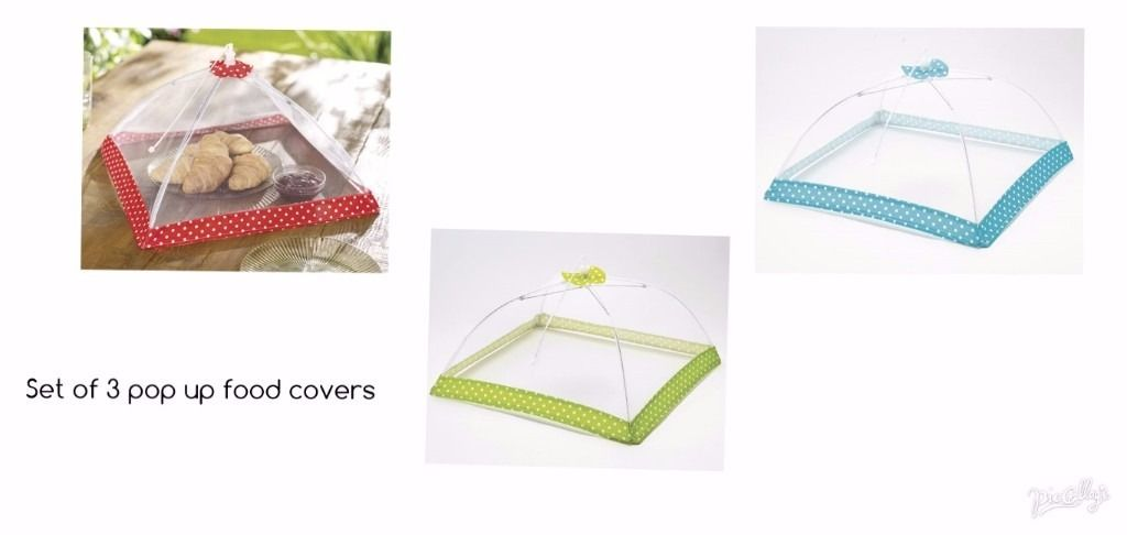 PACK OF 3 Pop Up Food Covers