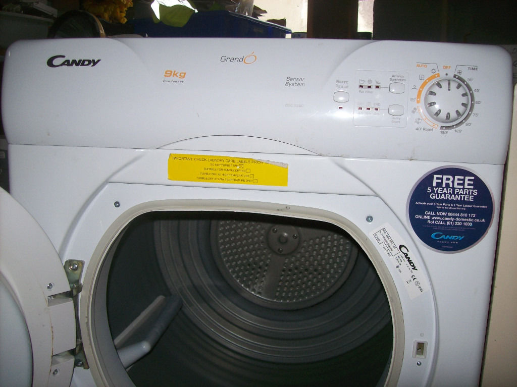 CANDY CONDENSER TUMBLE DRYER.FREE DELIVERY LOCAL TO NEW MILTON