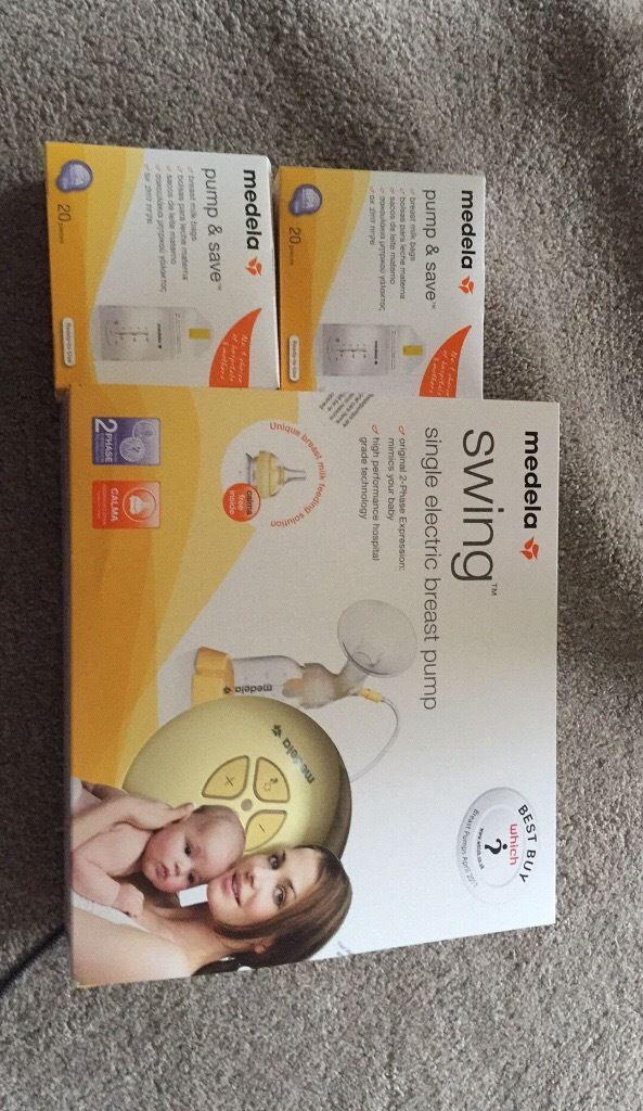 Medela electric pump and store and save bags
