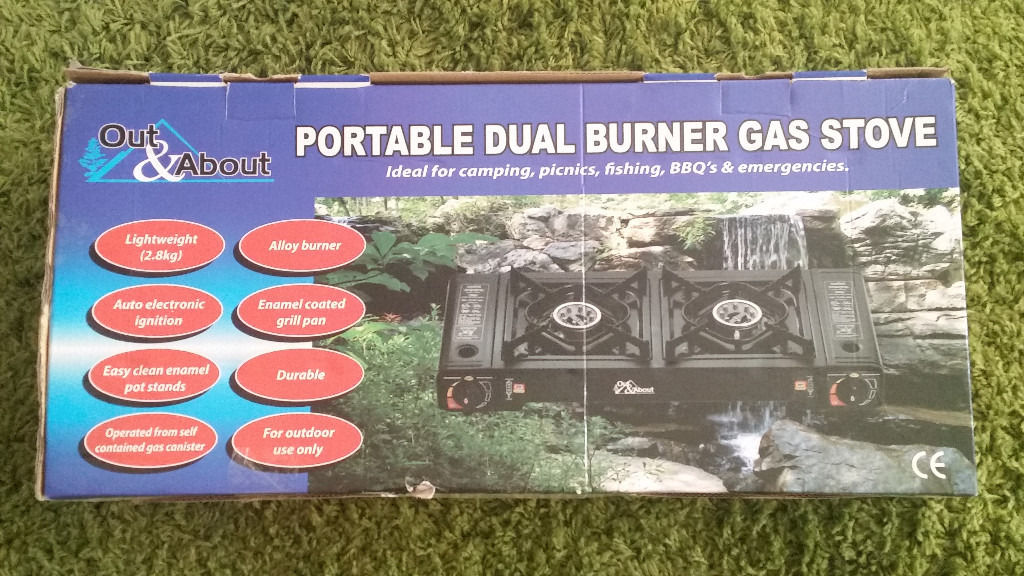 double ring camping stove never used