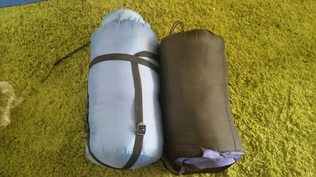 sleeping bags and airbed